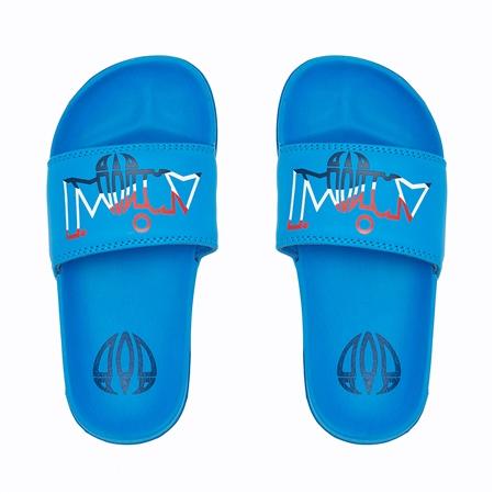 Animal Slyder Boys Flip Flop - Mediterranean Blue