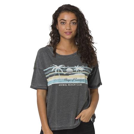 Animal Beach Days T-Shirt - Raven Black Marl