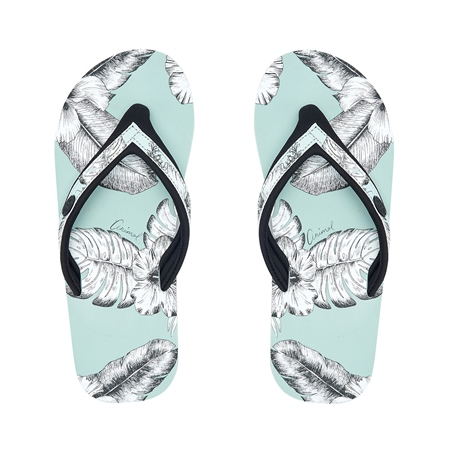 Animal Swish Slim Up AOP Flip Flop - Harbour Green