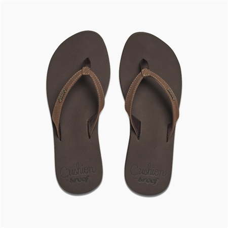 Reef Cush Luna Flip Flops - Brown  - Click to view a larger image