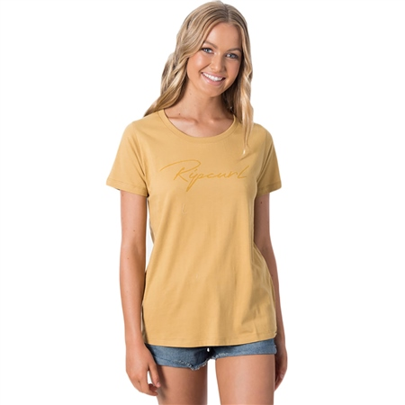 Rip Curl Freestyle Logo T-Shirt - Gold