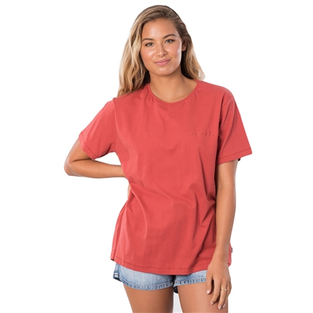 Rip Curl The Keep Searching T-Shirt - Rust