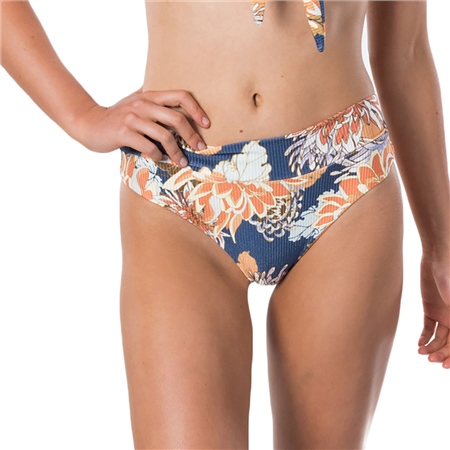 Rip Curl Sunsetters Floral High Cheeky Bikini Bottoms - Dark Blue