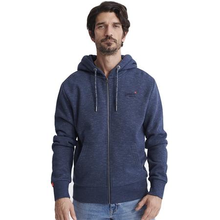 Superdry Orange Label Mountain Zip Hood Superdry Hoodie Navy Storm Grey