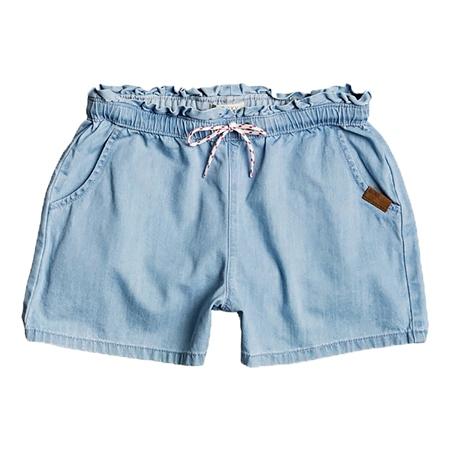 Roxy Right Here Denim Shorts - Light Blue