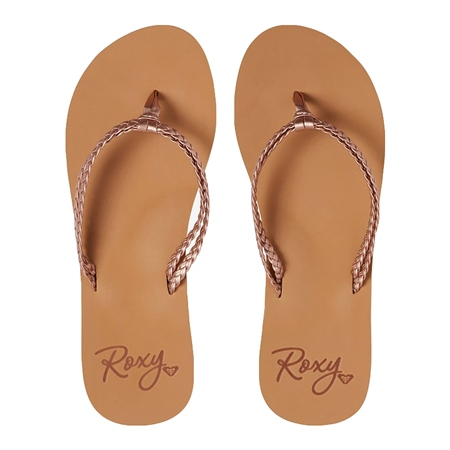 Roxy Costas Flip Flops - Rose Gold