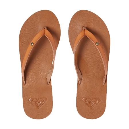 Roxy Jyll III Flip Flops in Tan | Roxy