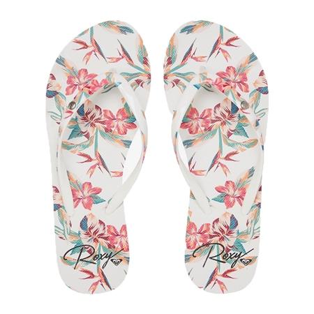 Roxy Portofino III Flip Flops - White