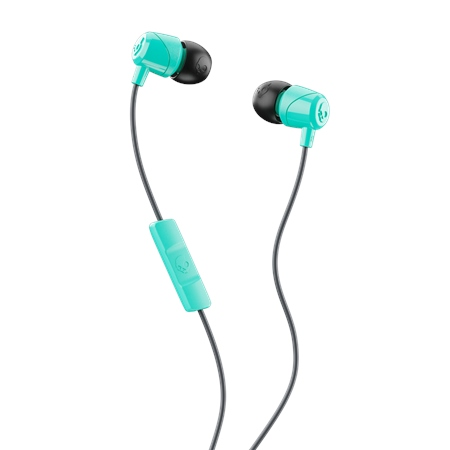 Skullcandy Jib Earbuds with Mic- Miami Teal & Black  - Click to view a larger image