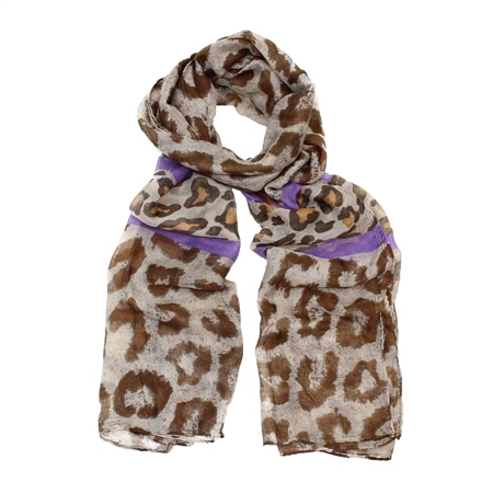 F & J Collection XB3206 Scarf - Brown