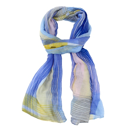 F & J Collection XS4313 Scarf - Blue