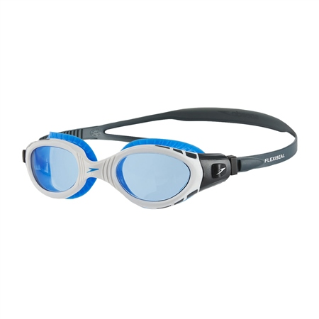 Speedo Futura Biofuse Flexiseal Goggles - White & Blue  - Click to view a larger image