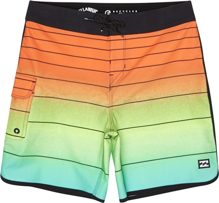 "Billabong 73 Striped Pro 18"" Boardshorts - Neon Orange"