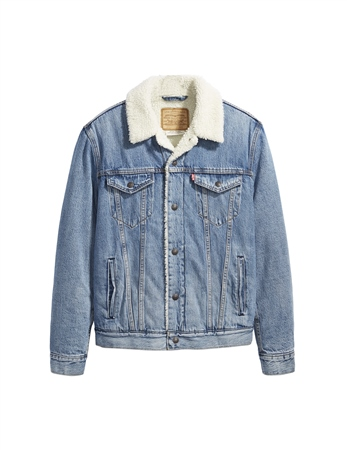 Levi's Sherpa Type 3 Jacket - Firewood Blue  - Click to view a larger image