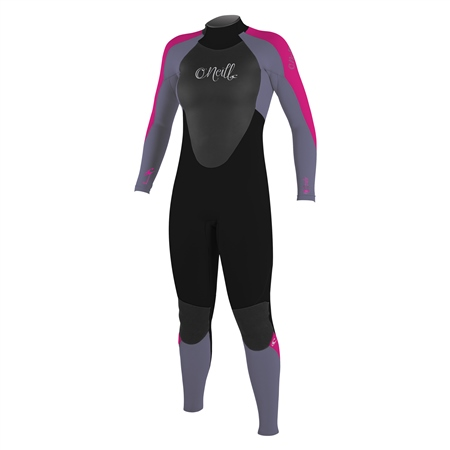 O'Neill Epic 3/2mm Back Zip Wetsuit - Black & Berry (2019)