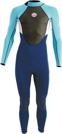 Alder Impact Back Zip 3/2mm Wetsuit - Blue (2020)  - Click to view a larger image