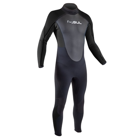 Gul Response Flatlock 3/2mm Back Zip Wetsuit (2020) - Black  - Click to view a larger image