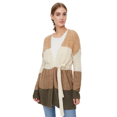 Vero Moda Isabella Cardigan - Tan  - Click to view a larger image