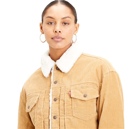 Levi's New Herit Cord Jacket - Iced Coffee  - Click to view a larger image