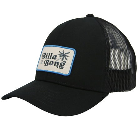 Billabong Boys Walled Trucker Cap - Black  - Click to view a larger image