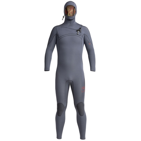 Xcel Comp X Hooded 4.5mm Chest Zip Wetsuit - Gunmetal  - Click to view a larger image