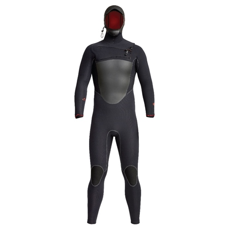 Xcel Drylock 5/4mm Hooded Chest Zip Wetsuit - Black  - Click to view a larger image