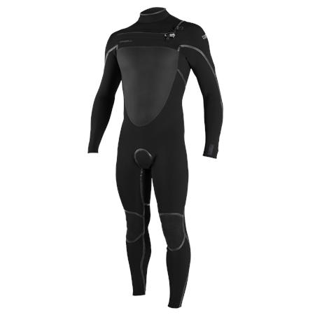 O'Neill Psycho Tech 5/4mm Chest Zip Wetsuit - Black & Black