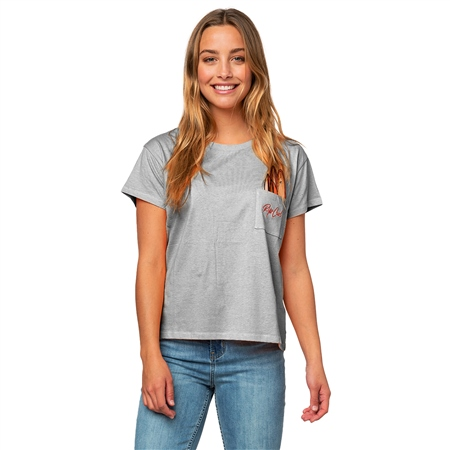 Rip Curl Surfboard Pocket T-Shirt - Cement Marle  - Click to view a larger image