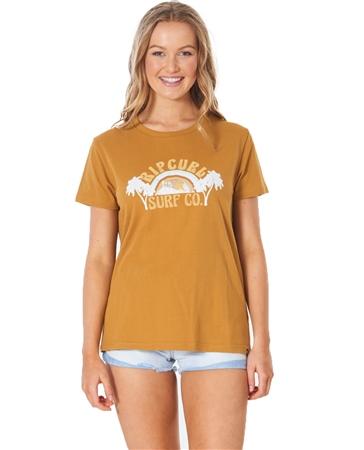 Rip Curl Tropic Sol T-Shirt - Tobacco Brown