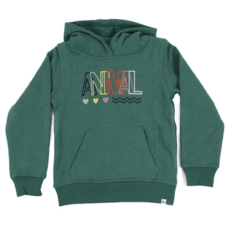 Animal Rachelle Girls Hoody - Oil Blue Marl  - Click to view a larger image