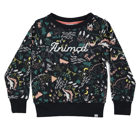Animal Chase Sweatshirt - India Ink Blue Marl  - Click to view a larger image