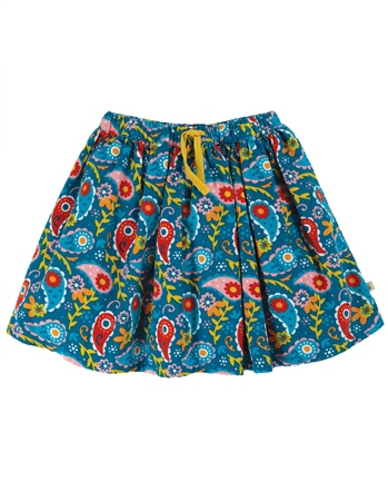 Frugi Lizzie Cord Skirt - Pixie Paisley  - Click to view a larger image