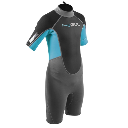 Gul Response Shorty Wetsuit (2020) - Jet Grey & Bluestar  - Click to view a larger image