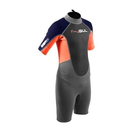 Gul Response Shorty Wetsuit (2020) - Jet Grey & Orange  - Click to view a larger image