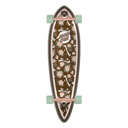 "Santa Cruz Floral Decay Pintail 33"" Skateboard - Brown  - Click to view a larger image"