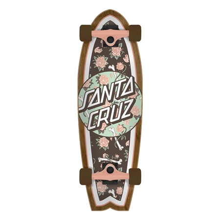 "Santa Cruz Floral Decay Shark 27.7"" Skateboard - Multi  - Click to view a larger image"