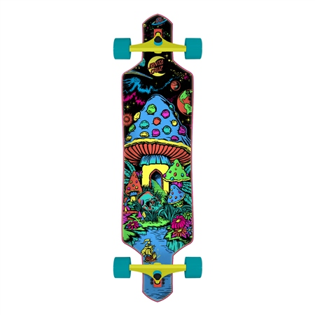 "Santa Cruz Time Warp Drop Thru 36"" Skateboard - Multi  - Click to view a larger image"