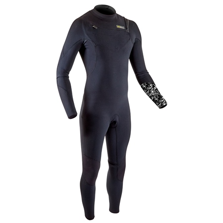 Gul Response FX 5/4mm Chest Zip Wetsuit - Black & Camo  - Click to view a larger image