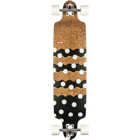 """Globe Bannerstone 41"""" Skateboard - Cork & Dots  - Click to view a larger image"""