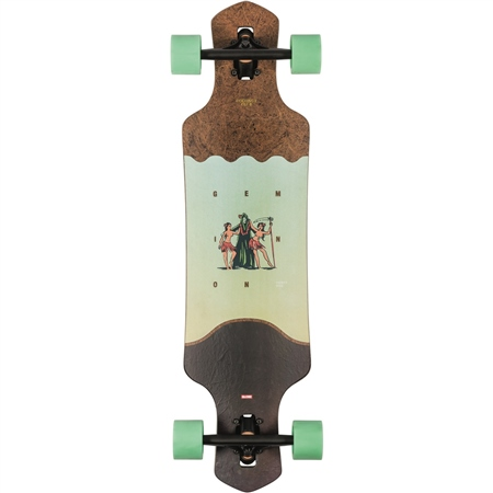 """Globe Geminon 35"""" Skateboard - Coconut & Reaper  - Click to view a larger image"""