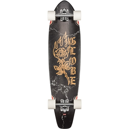 "Globe The All-Time 35"" Skateboard - BLlack Rose"