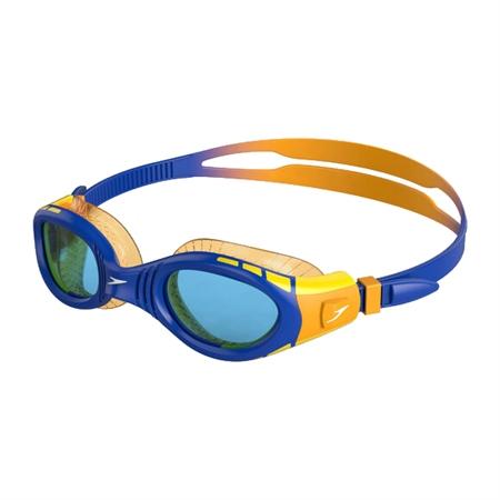 Speedo Futura Biofuse Flexiseal Junior Goggles - Orange, Blue & Yellow  - Click to view a larger image