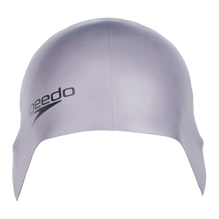 Speedo Plain Moulded Silicone Cap - Grey  - Click to view a larger image