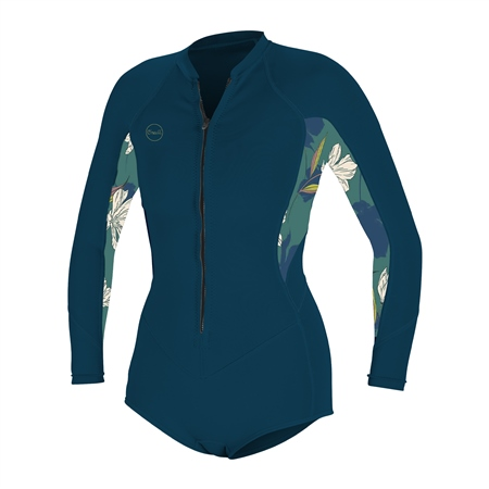 O'Neill Bahia 2/1mm Front Zip Spring Wetsuit (2020) - French Navy & Bridget  - Click to view a larger image