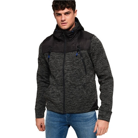 Superdry Mountain Zip Hoody - Black  - Click to view a larger image