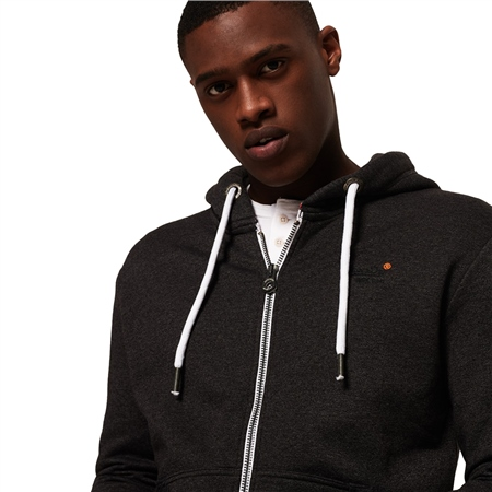 Superdry Orange Label Zip Hoody - Black  - Click to view a larger image