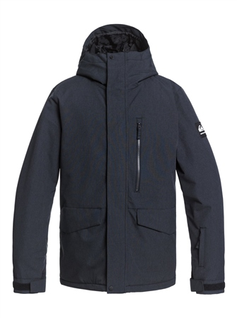 Quiksilver Mission Solid Jacket - True Black  - Click to view a larger image