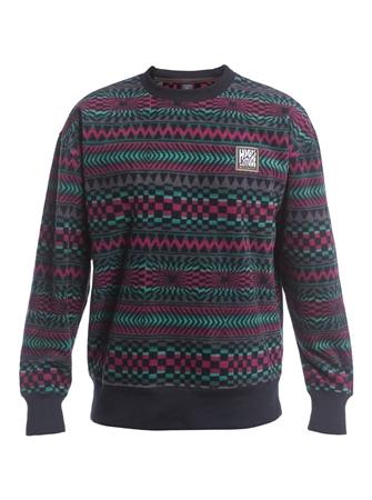 Quiksilver Soul Power Sweatshirt - True Black Capsule Stripe