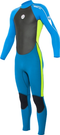 Alder Impact 3/2mm Back Zip Wetsuit (2021) - Lime  - Click to view a larger image