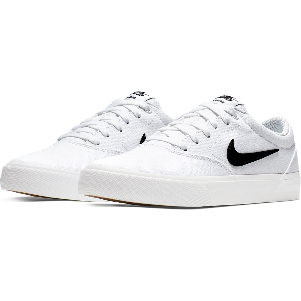Charge Shoes - White & Black - UK 4
